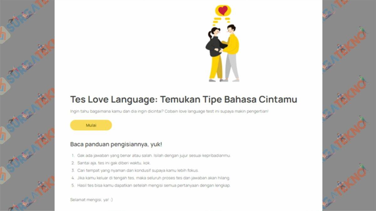 Buka Situs SatuPersen.net - Cara Mengecek Love Language