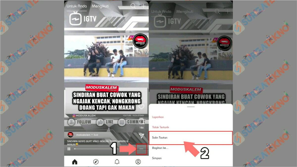 Gambar Langkah Pertama - Cara Download Video dari IGTV