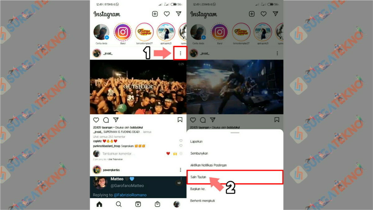 Gambar Langkah Pertama - Cara download video Instagram