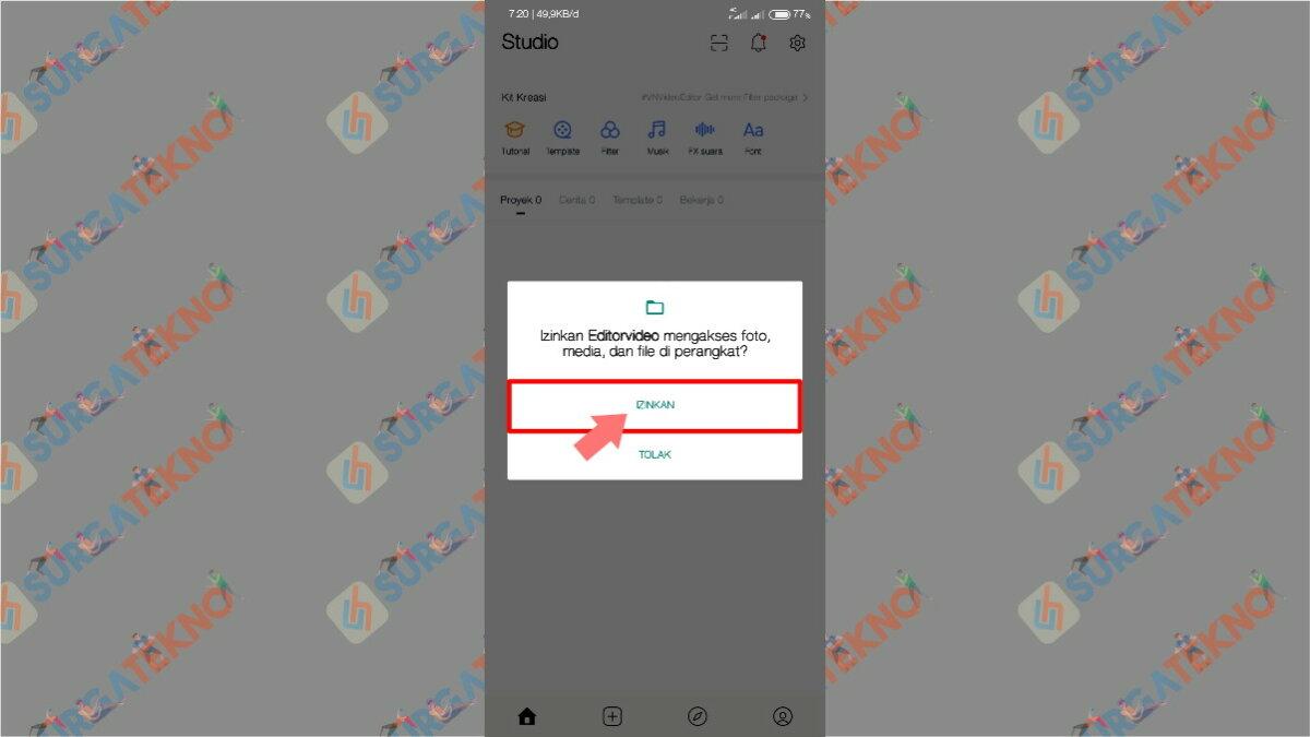 Gambar Langkah Pertama - Cara Agar Video di Story WhatsApp Tidak Buram / Pecah