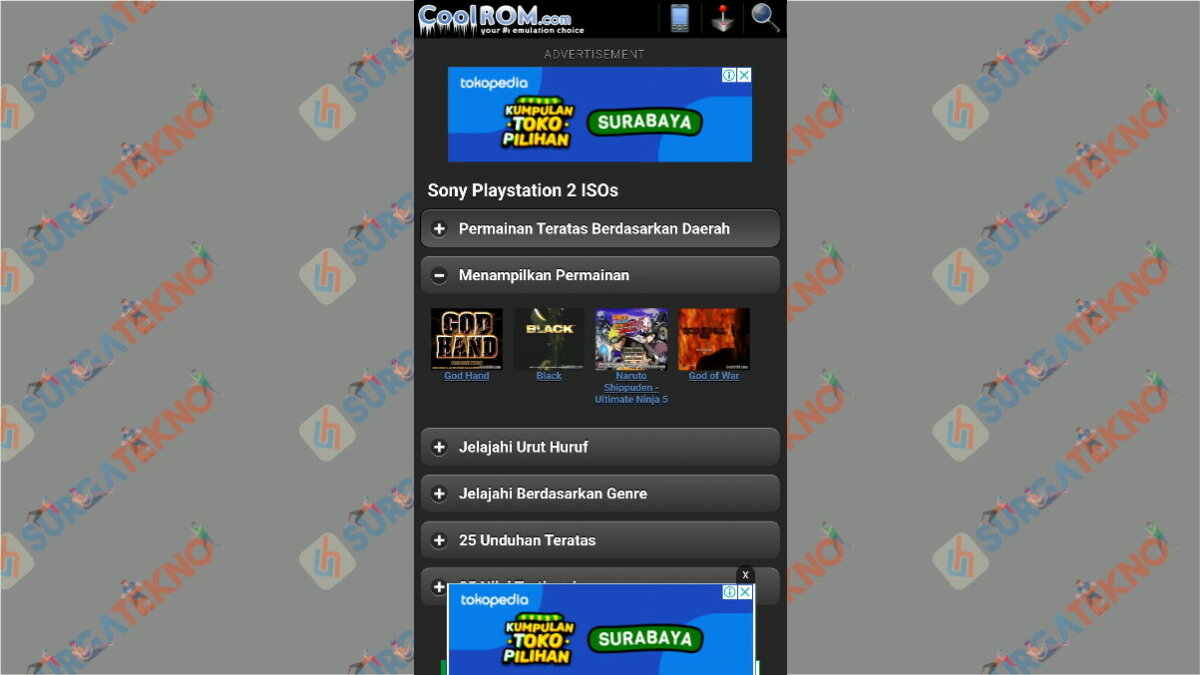 Coolroms - situs download game ps2 ISO