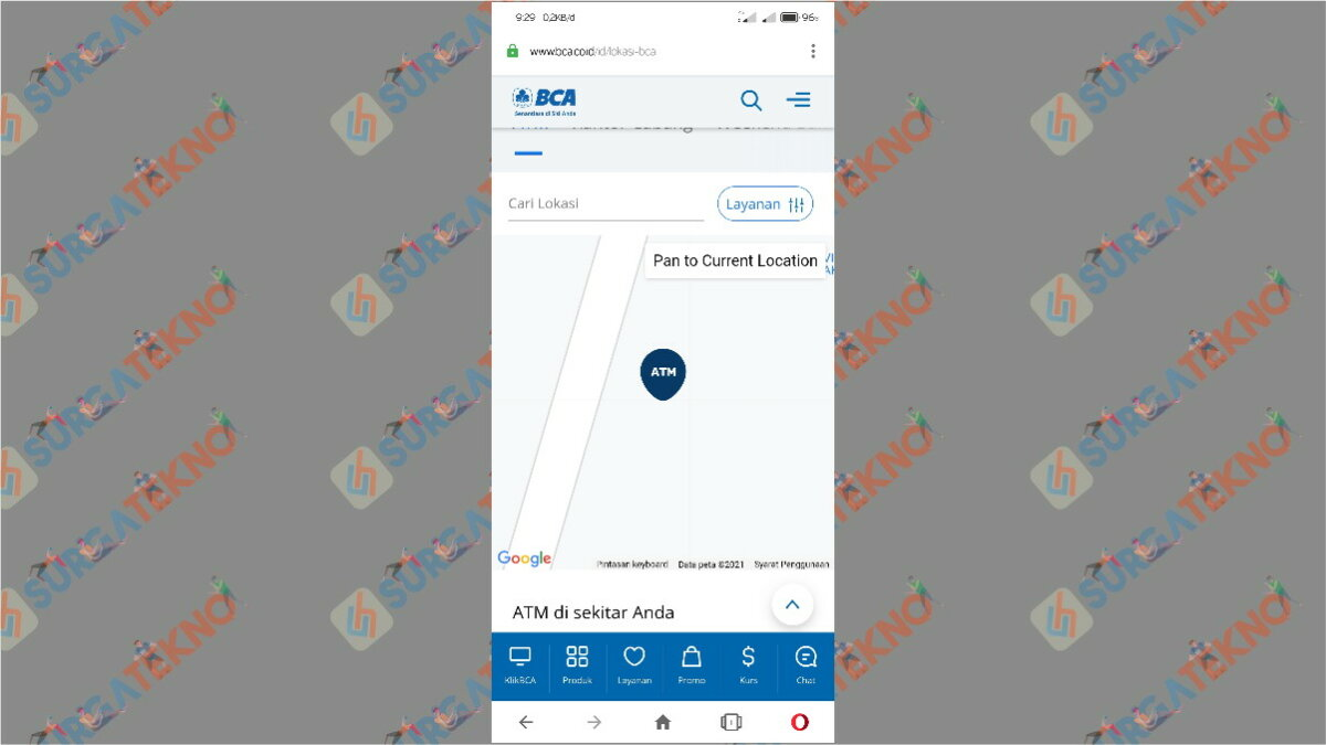 Gambar Langkah kedua - Cara Mencari ATM BCA Terdekat di Sekitar Kita