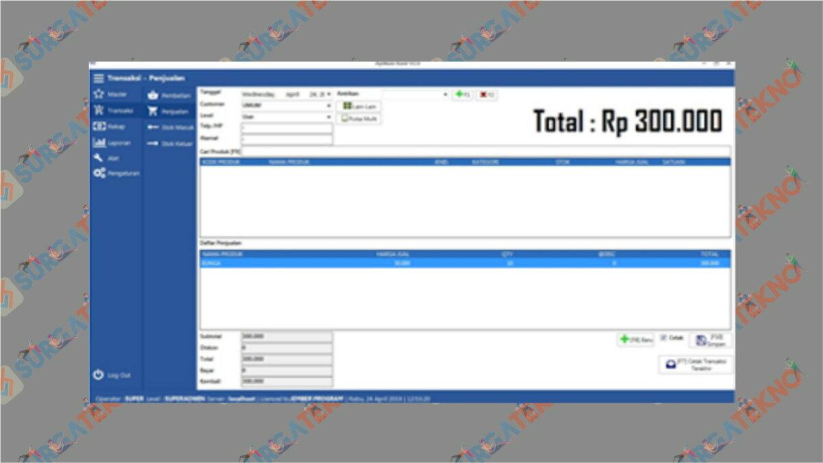 Aplikasi Kasirku V. 2 - Aplikasi Kasir Gratis Excel Full