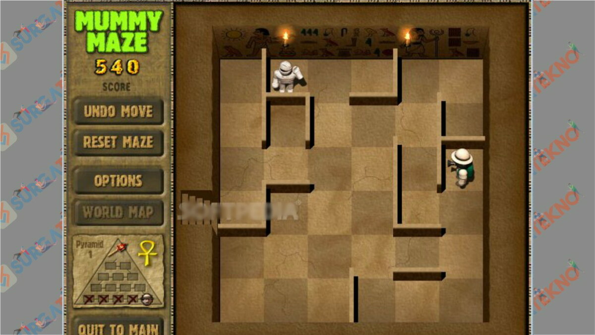 Screenshoot Gameplay Mummy Maze Deluxe