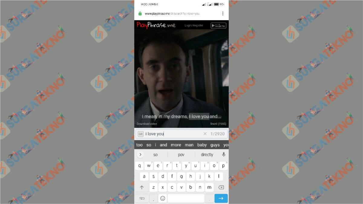 Gambar Langkah Kedua - Cara Download Potongan Adegan Film