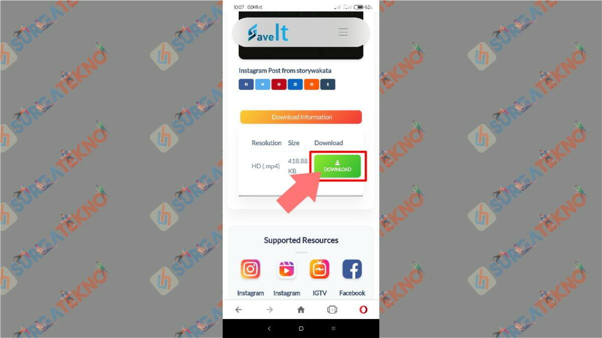Gambar Langkah Terakhir - Cara Download Video dari Instagram Reels