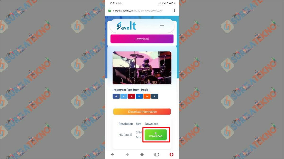 Gambar Langkah Ketiga - Cara download video Instagram