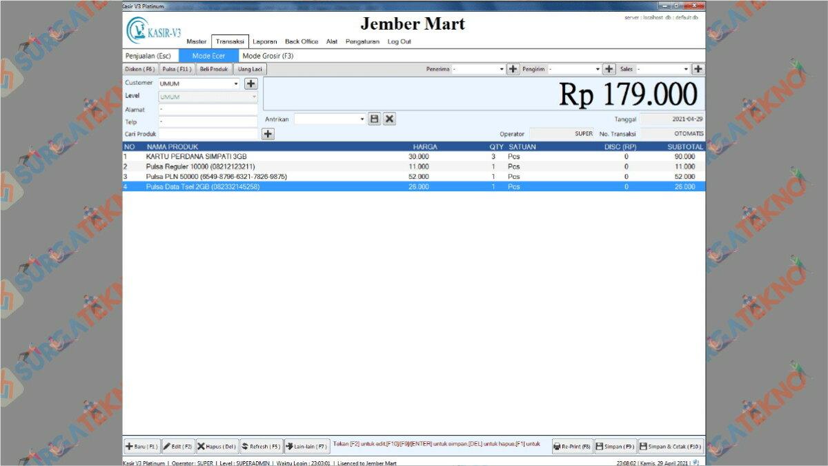 Aplikasi Kasirku V. 3 - Aplikasi Kasir Gratis Excel Full