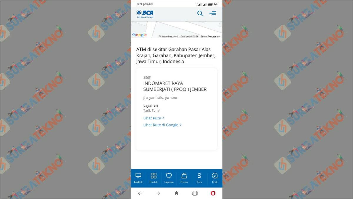 Gambar Langkah Empat - Cara Mencari ATM BCA Terdekat di Sekitar Kita