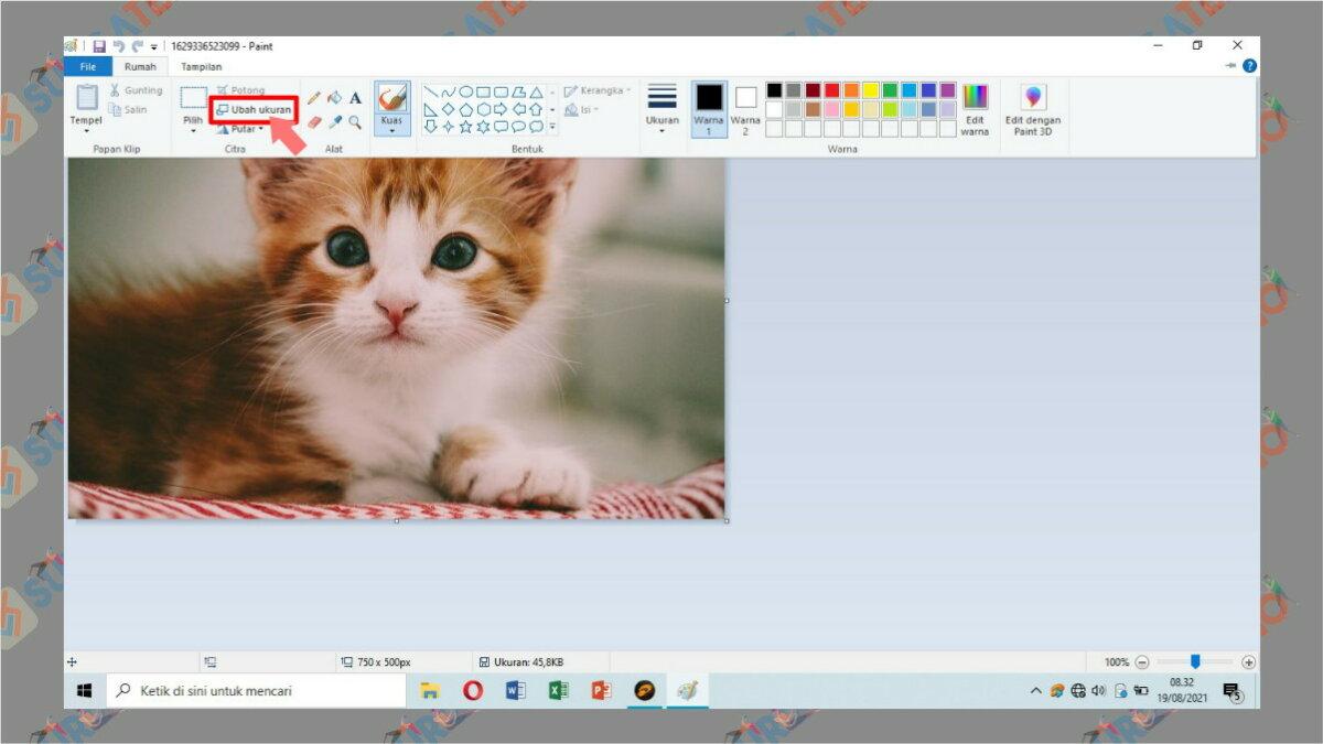 Gambar Langkah keempat - cara memperbesar ukuran jpg