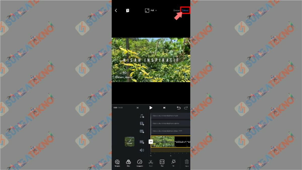 Gambar Langkah Kelima - Cara Agar Video di Story WhatsApp Tidak Buram / Pecah