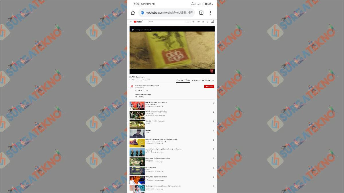 Langkah Keenam - Cara Mendengarkan Musik YouTube sembari membuka aplikasi lain