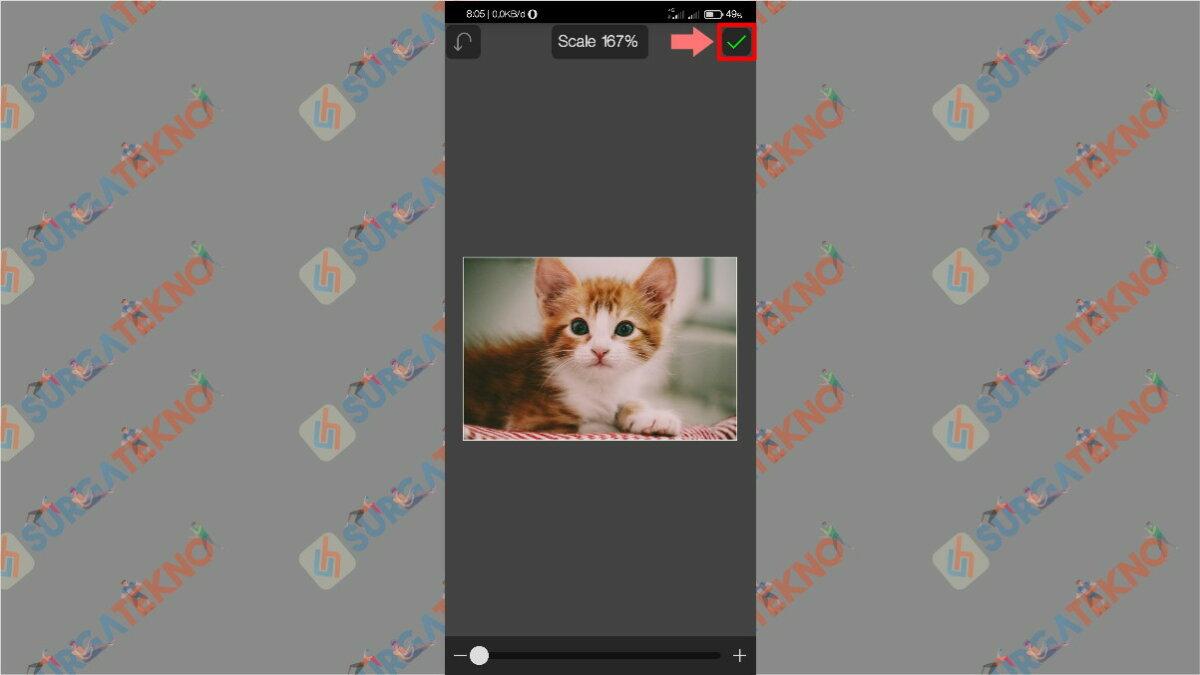 Gambar Langkah keenam - cara memperbesar ukuran jpg