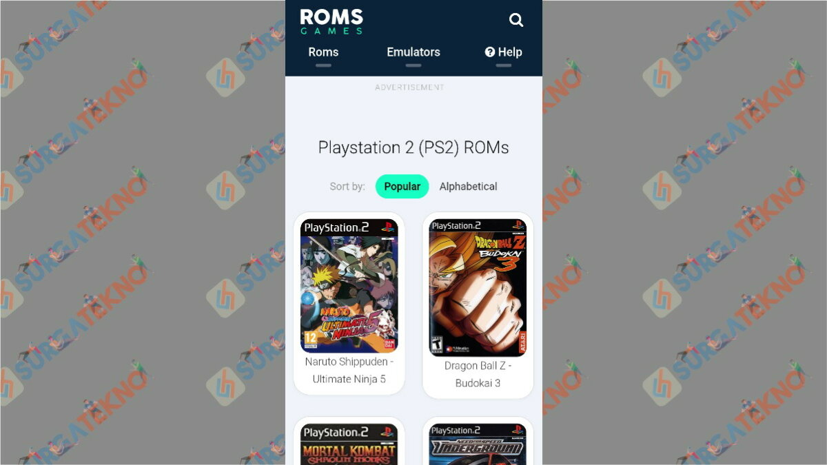Romsgames - situs download game ps2 ISO