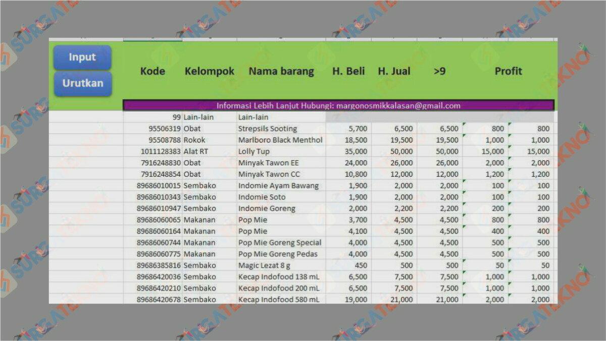 Aplikasi Kasir Toko Excel - Aplikasi Kasir Gratis Excel Full