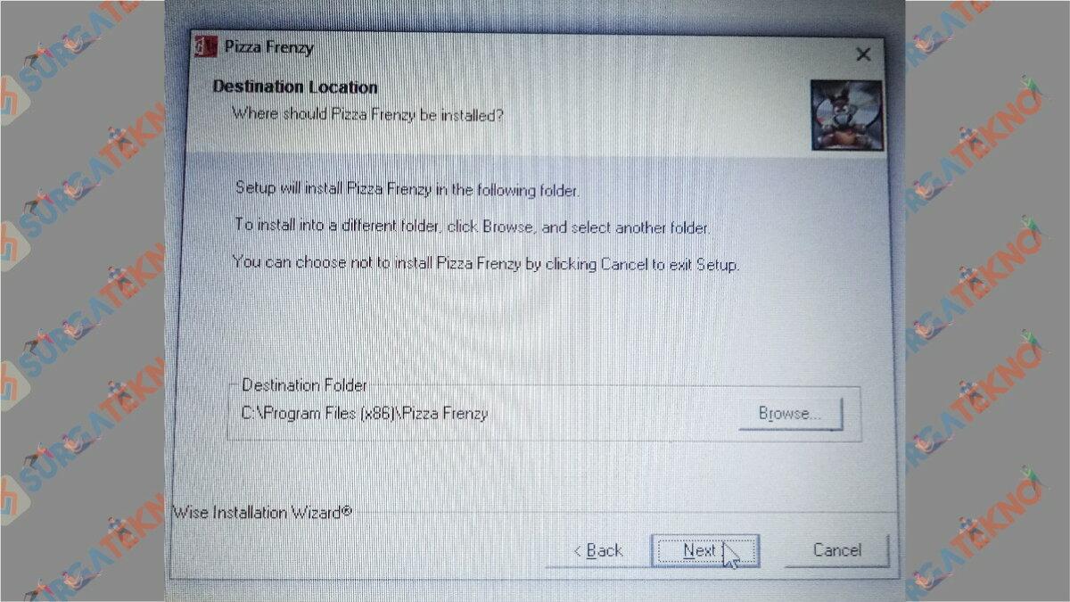Gambar Langkah ketujuh - Cara Install Pizza Frenzy