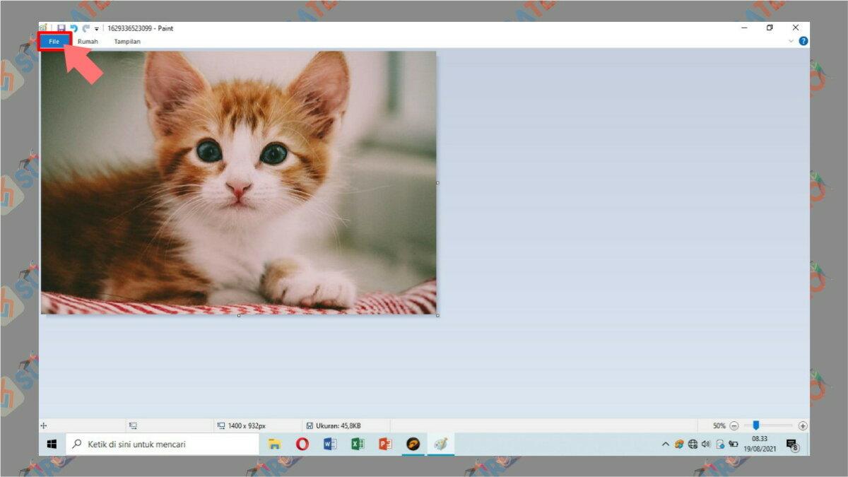 Gambar Langkah Ketujuh - cara memperbesar ukuran jpg