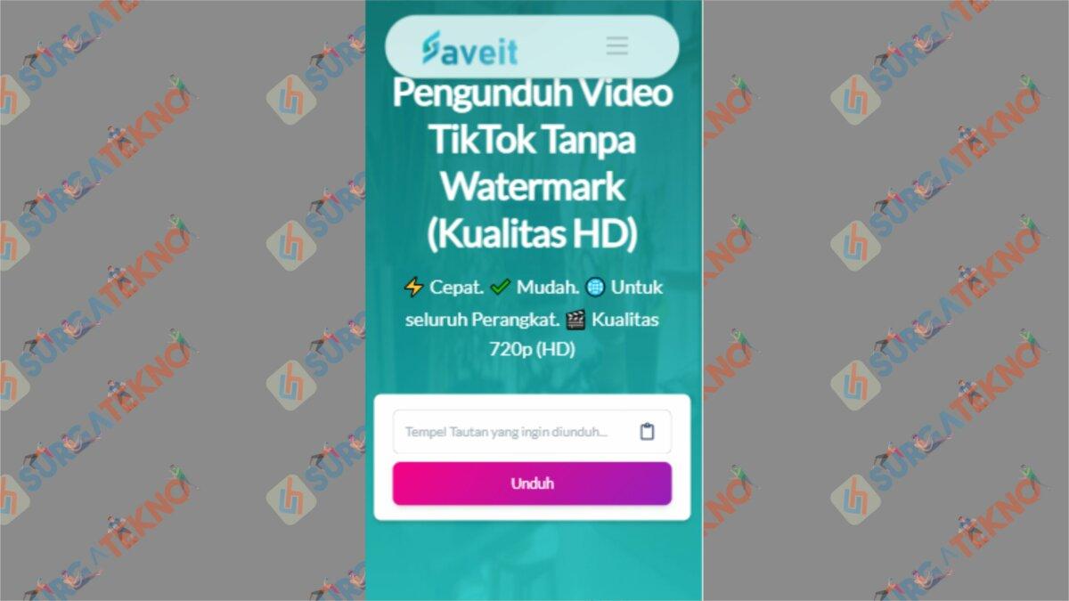 Buka TikTok Downloader Tanpa Watermark dari SaveIt App - Cara Download Video TikTok Tanpa Watermark