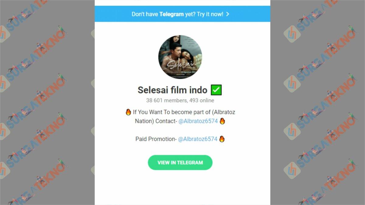 Channel Selesai Film Indo - Nonton Film Selesai di Telegram
