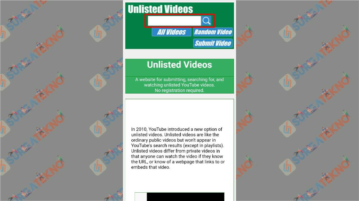 Langkah Pertama - Cara Melihat Video Rahasia di YouTube