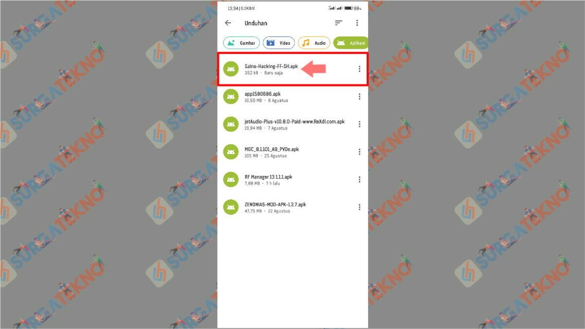 Langkah pertama - cara download dan install VIP Hack Sains Hacking APK