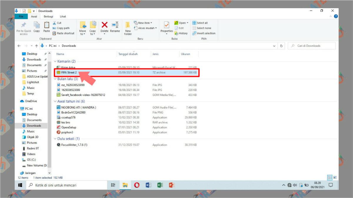 Langkah pertama - Cara Ekstrak File 7z di PC