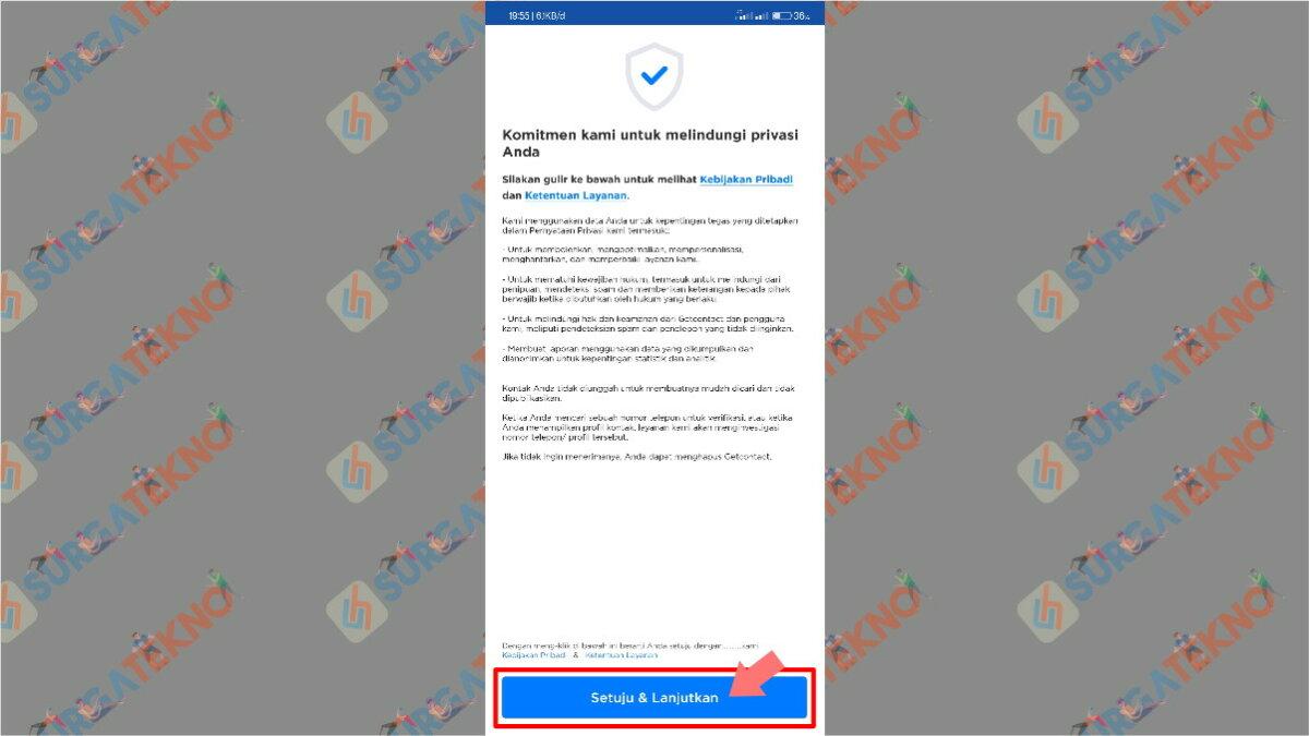Langkah pertama - cara penggunaan aplikasi get contact