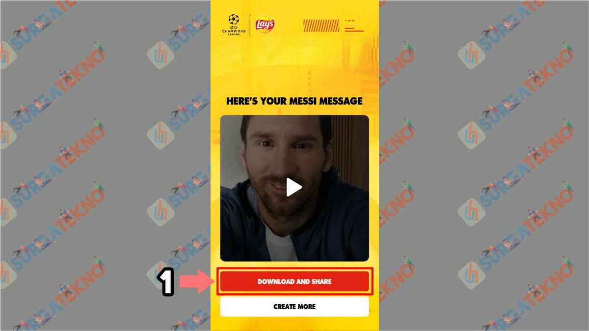 Langkah Kesepuluh - Cara Membuat Video Salam dari Lionel Messi