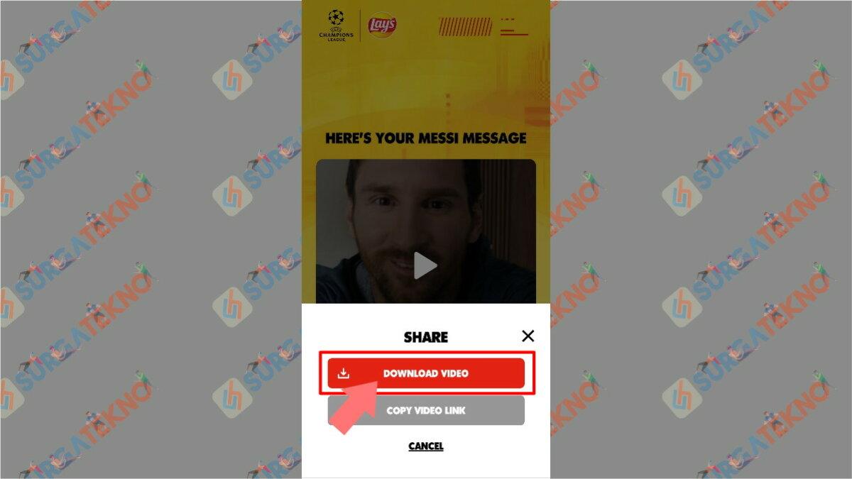 Langkah Kesebelas - Cara Membuat Video Salam dari Lionel Messi