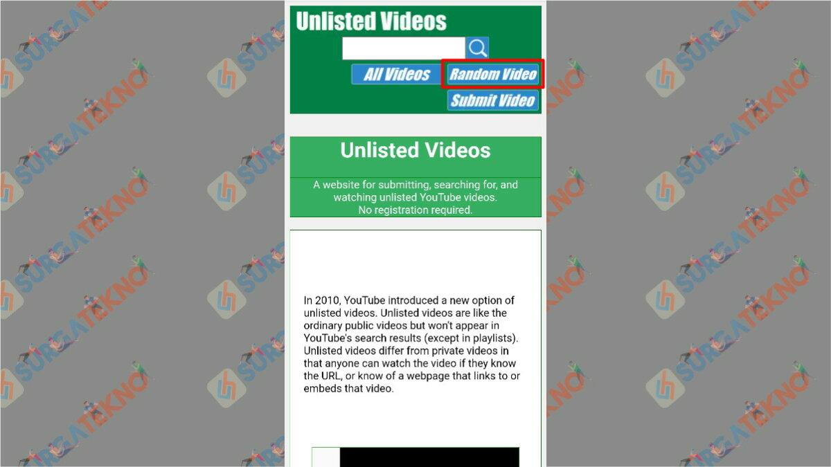 Langkah Kedua - Cara Melihat Video Rahasia di YouTube