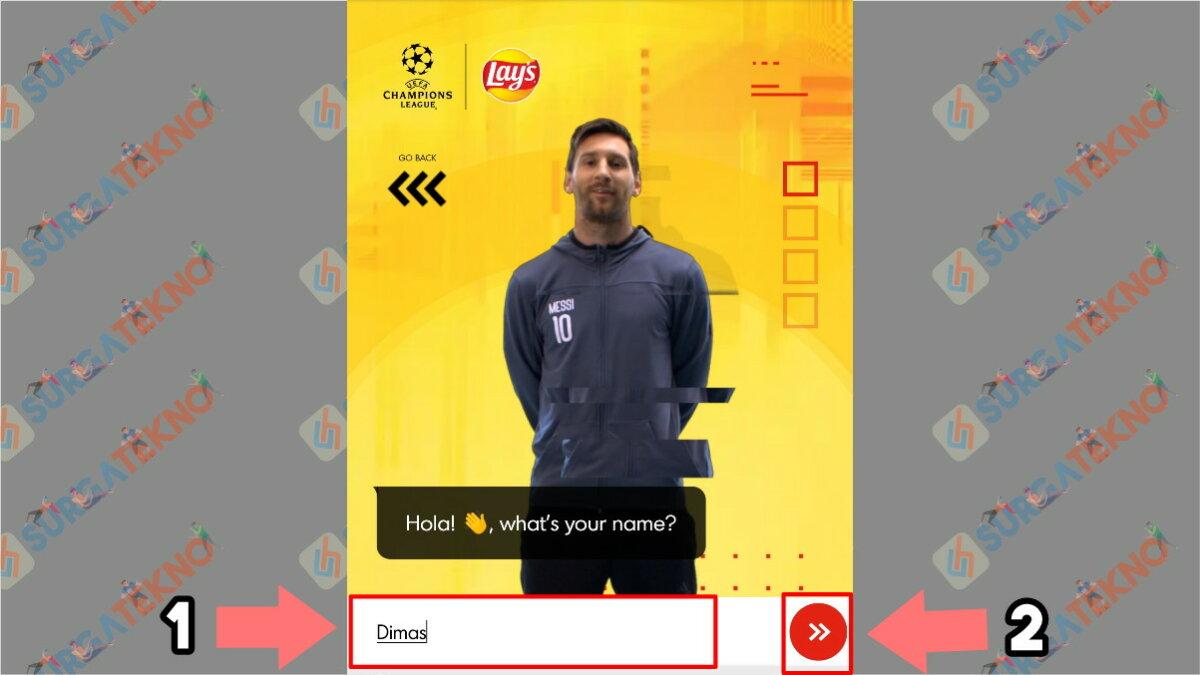 Langkah Kedua - Cara Membuat Video Salam dari Lionel Messi