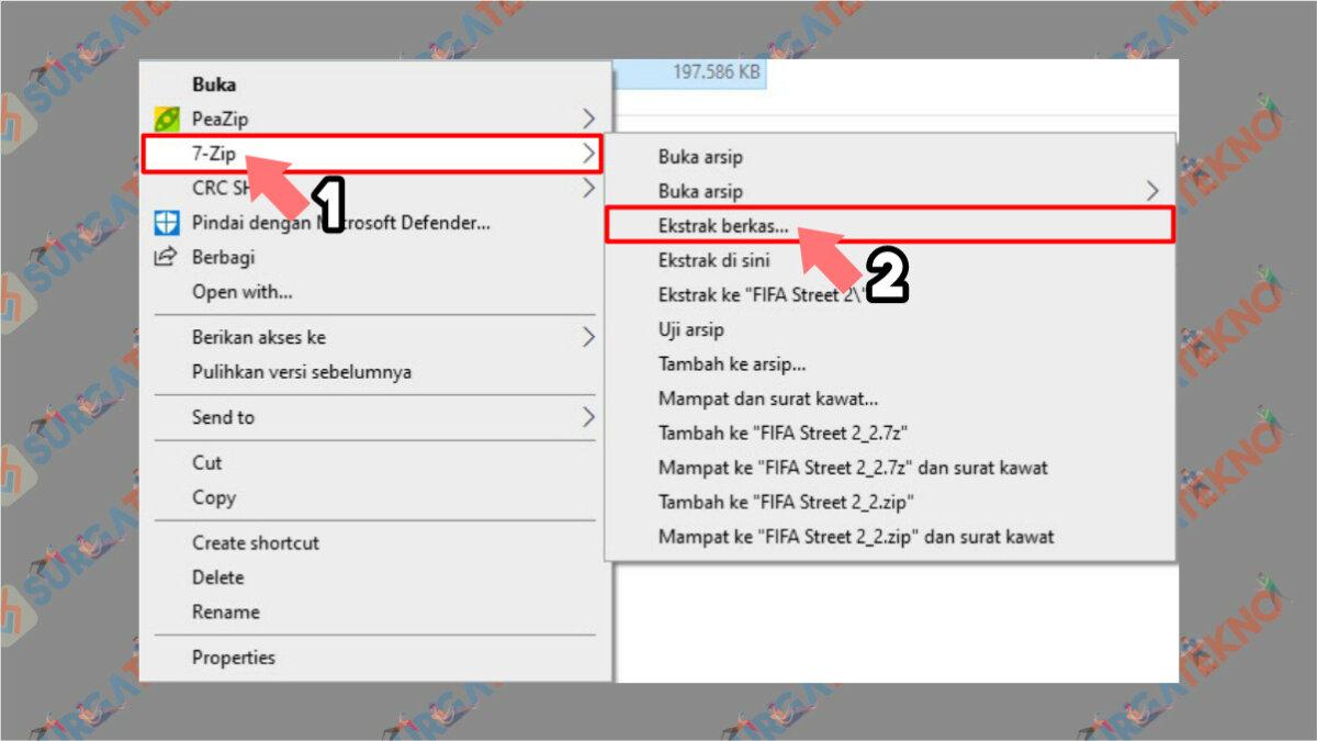 Langkah kedua - Cara Ekstrak File 7z di PC