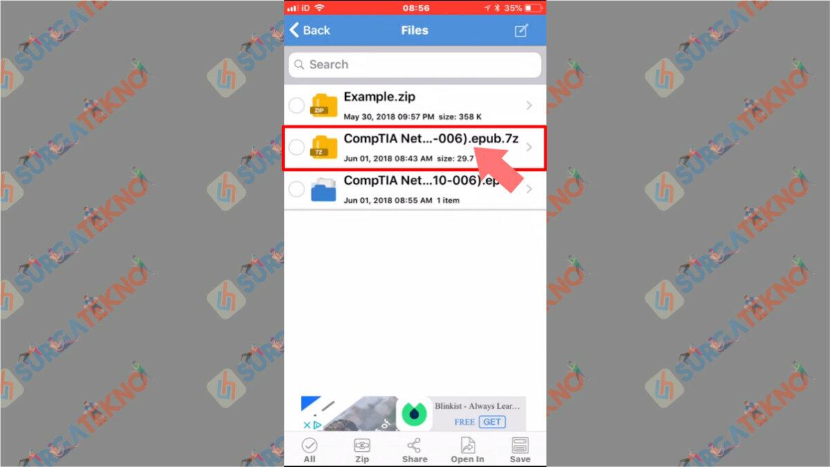 Langkah Kedua - Cara Ekstrak File 7z di iOS