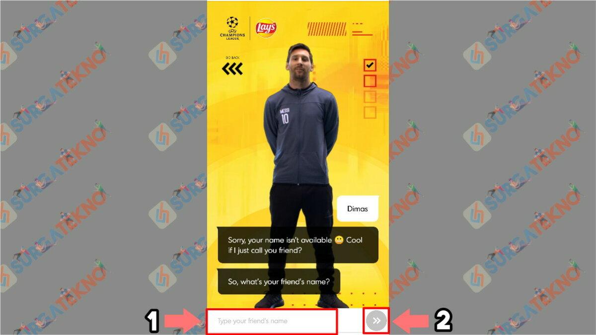 Langkah Ketiga - Cara Membuat Video Salam dari Lionel Messi