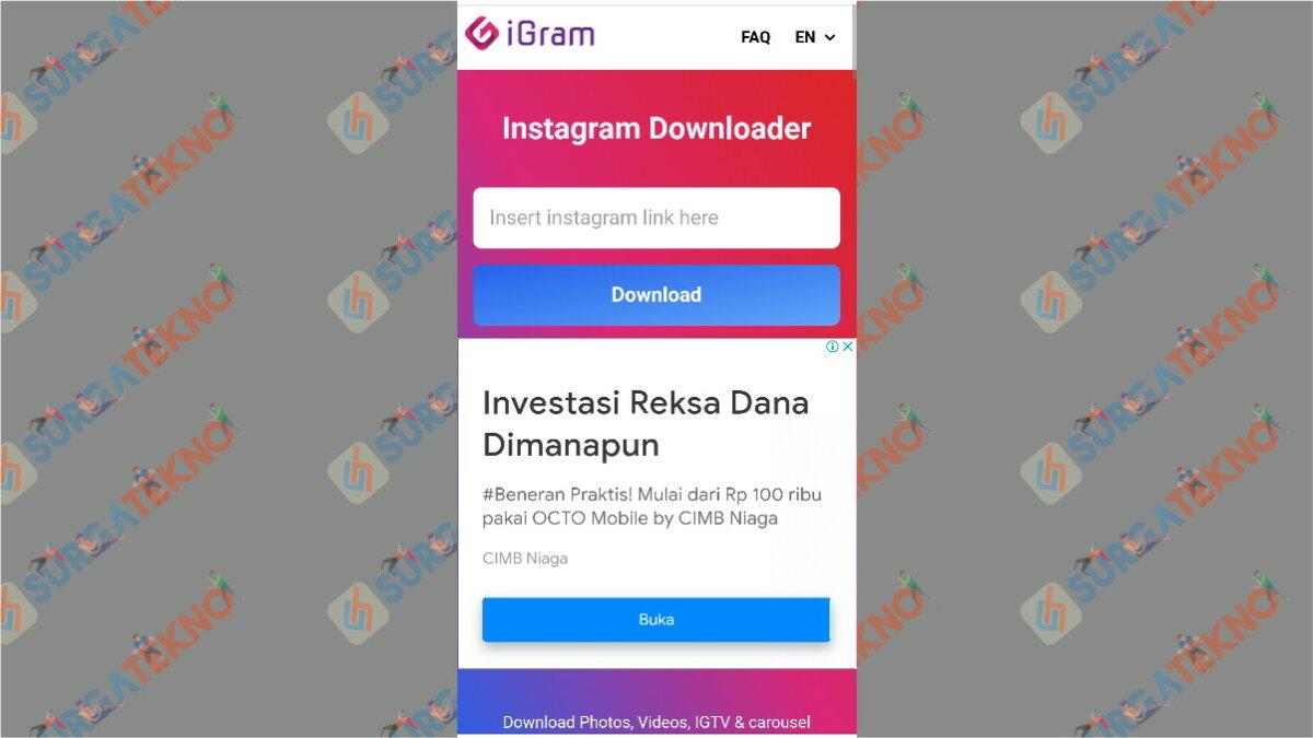 igram.io - aplikasi pengunduh video Instagram