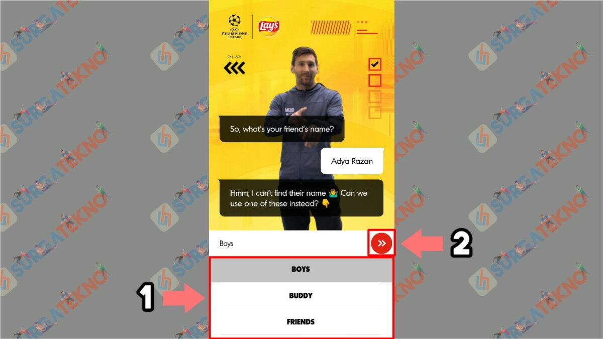 Langkah keempat - Cara Membuat Video Salam dari Lionel Messi
