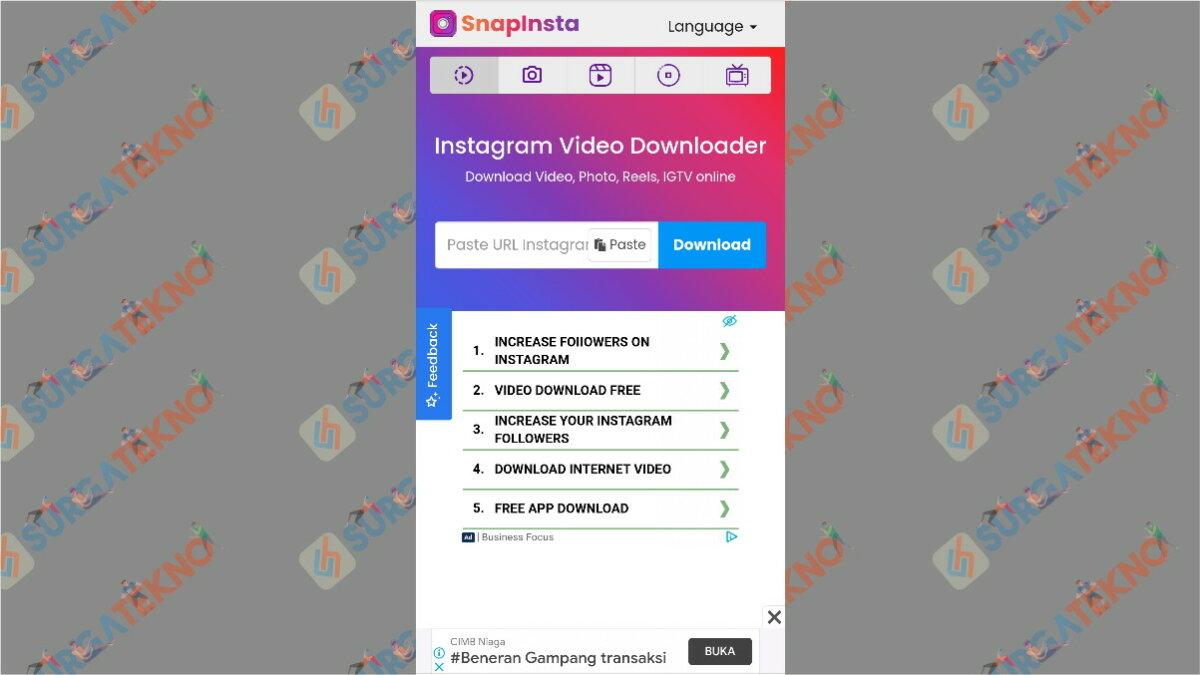 snapinsta.app - aplikasi pengunduh video Instagram
