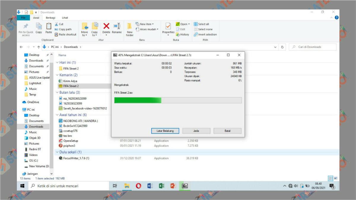 Langkah keempat - Cara Ekstrak File 7z di PC