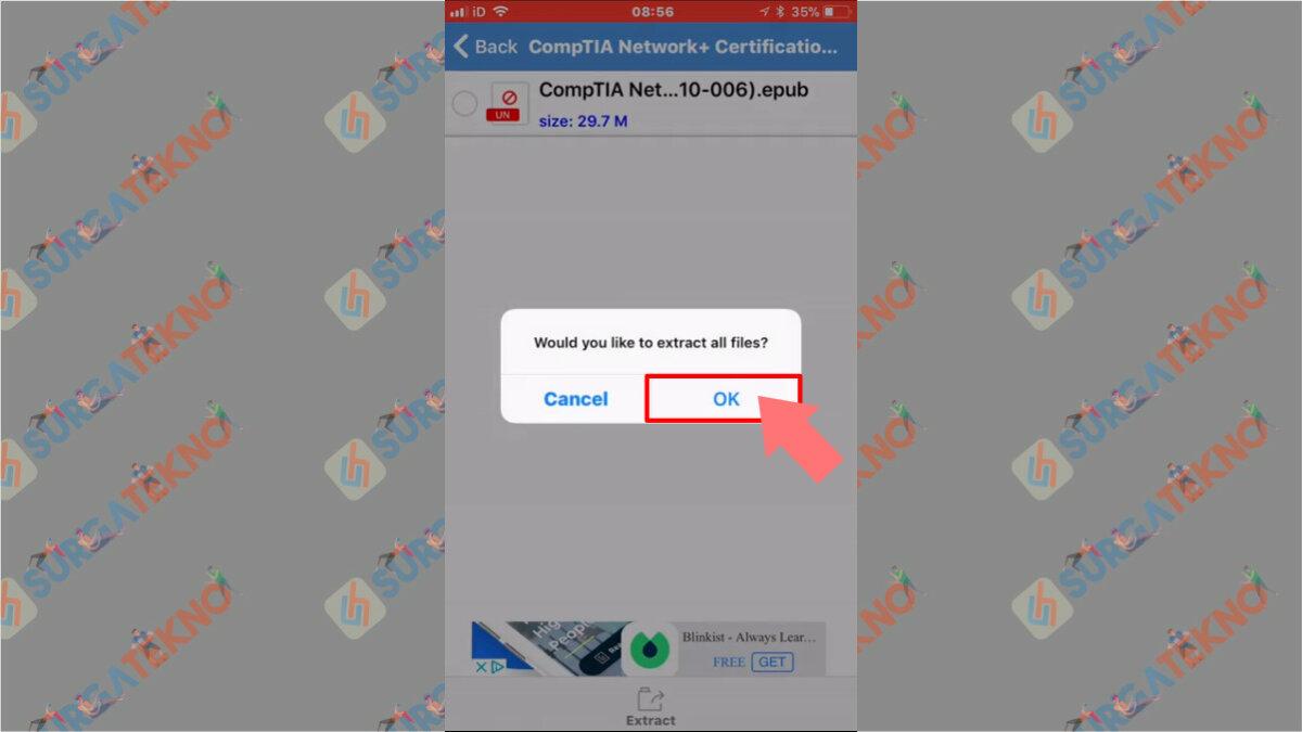 Langkah Keempat - Cara Ekstrak File 7z di iOS