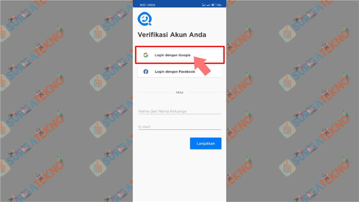 Langkah keempat - cara penggunaan aplikasi get contact