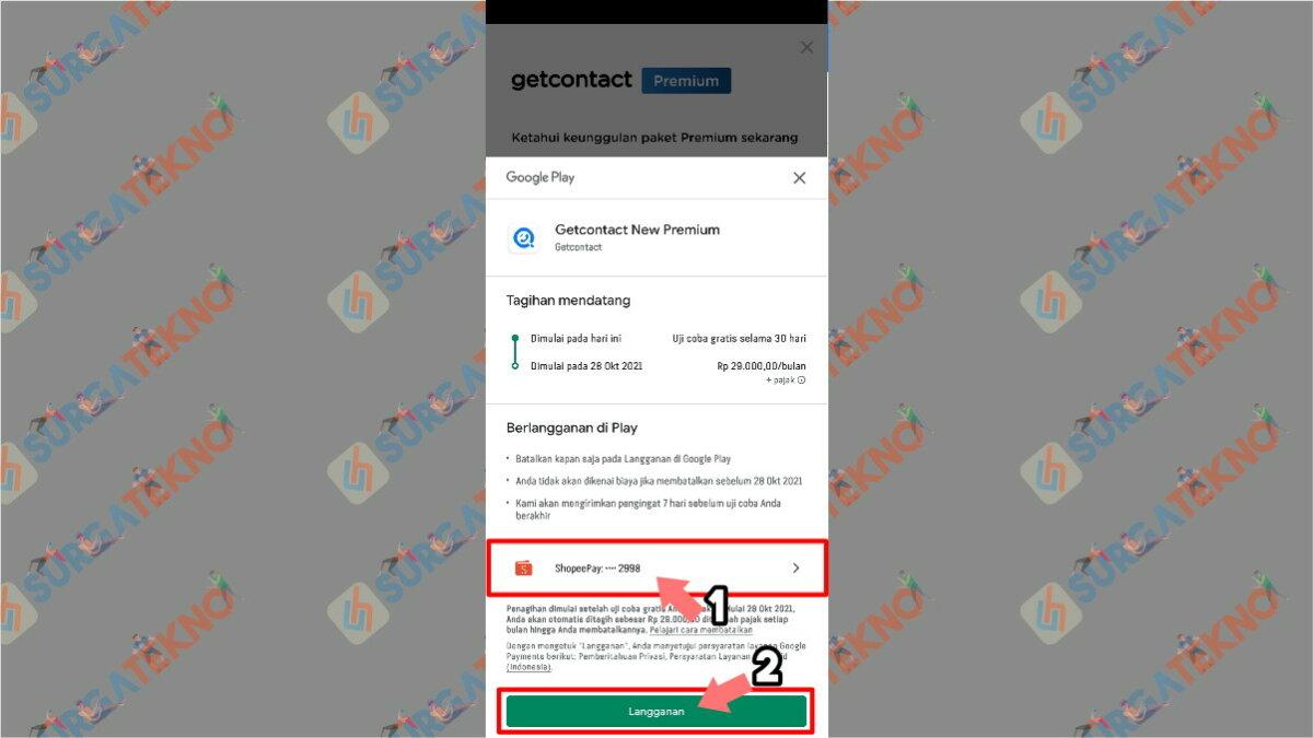 Langkah kelima - Cara Mendapatkan Get Contacts Premium Gratis