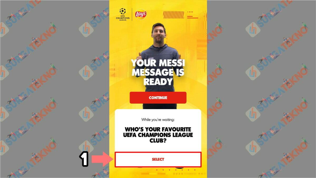 Langkah Ketujuh - Cara Membuat Video Salam dari Lionel Messi