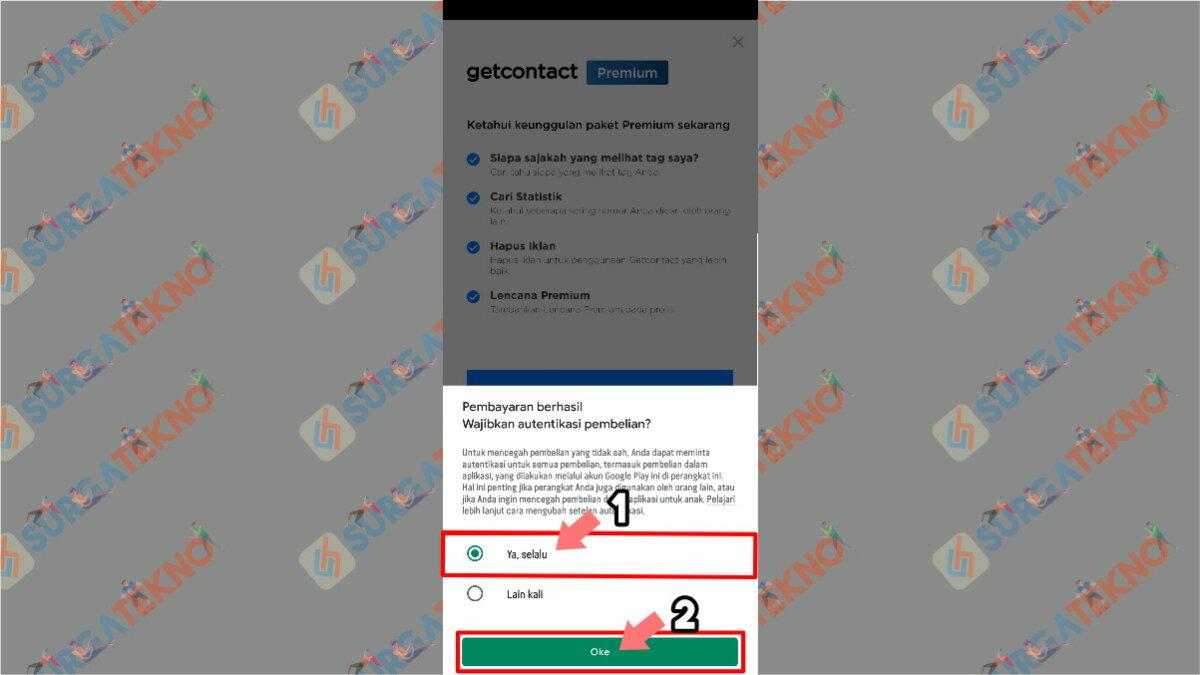 Langkah ketujuh - Cara Mendapatkan Get Contacts Premium Gratis