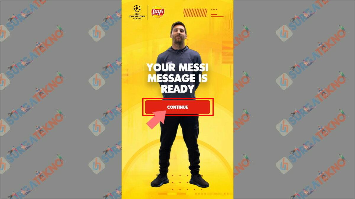 Langkah Kesembilan - Cara Membuat Video Salam dari Lionel Messi