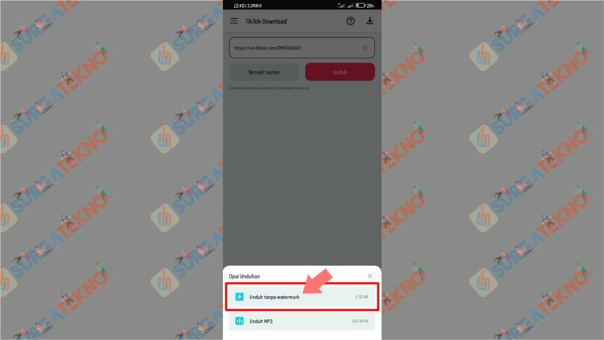 Pilih Unduh Tanpa Watermark - Cara Download Video TikTok Tanpa (Bebas) Watermark dengan Aplikasi